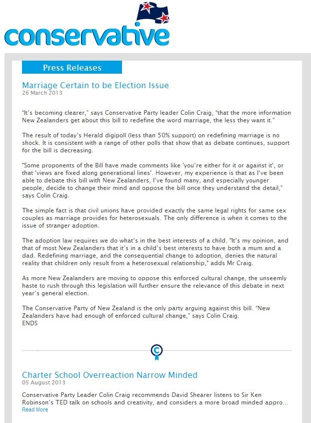 Conservative Press Release