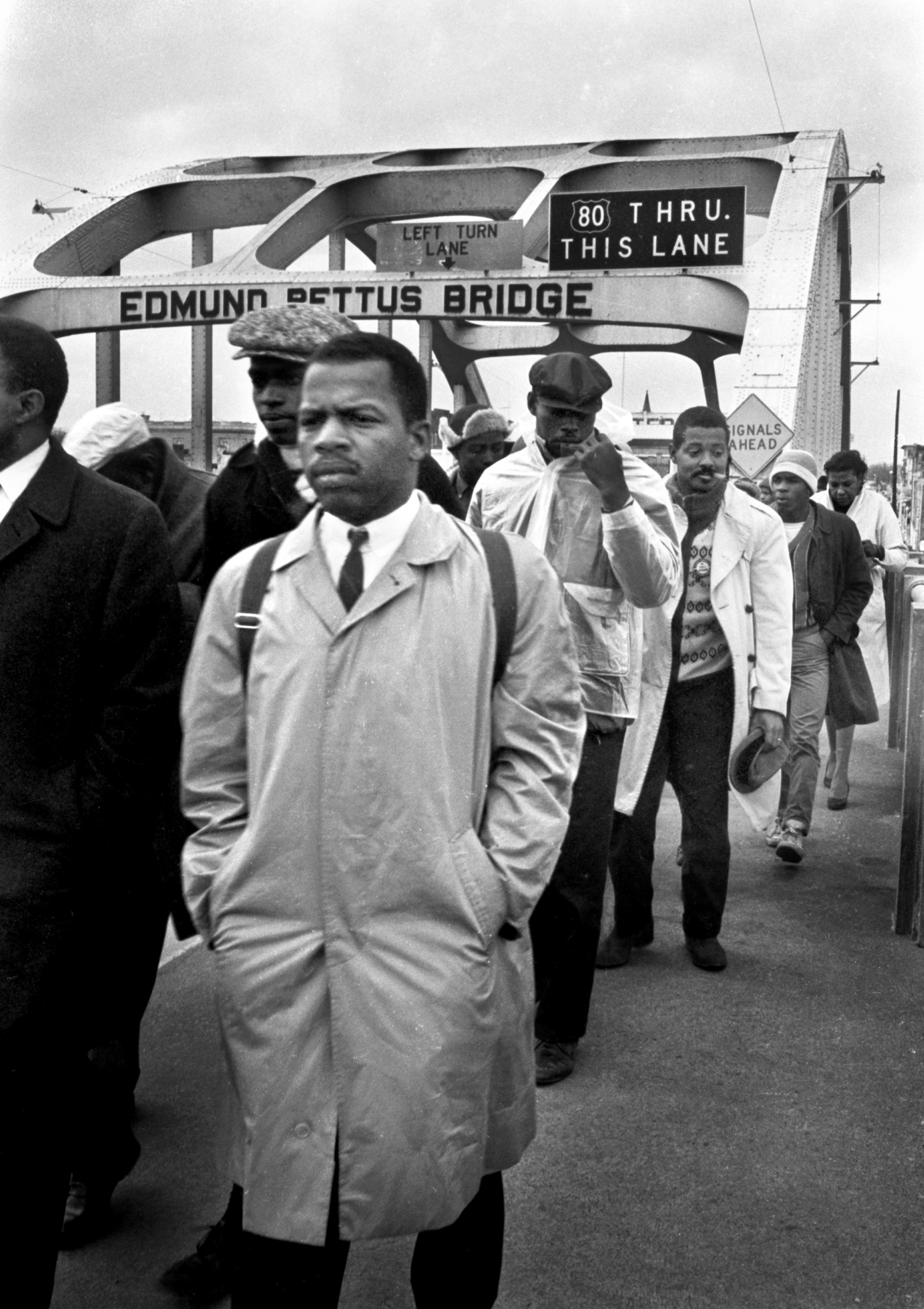 same sex marriage pat brittenden john lewia on edmund pettus bridge in 1965